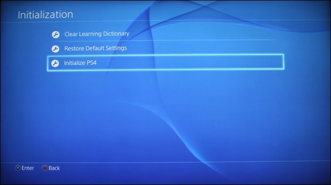 Initialize PS4