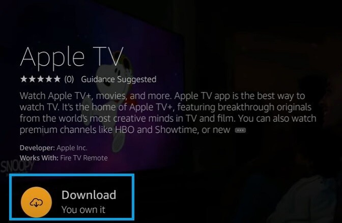 Download and Get Apple TV on Firestick