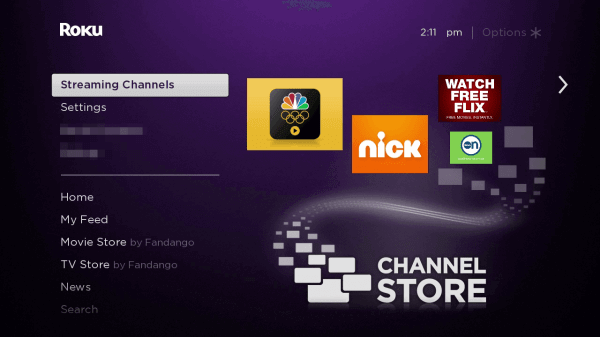 Streaming Channels - F1 on Roku