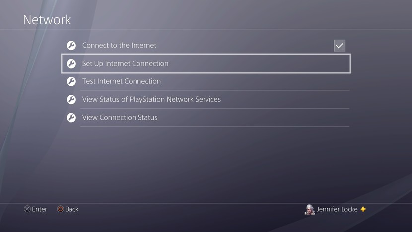 Set Up Network Connection - PS