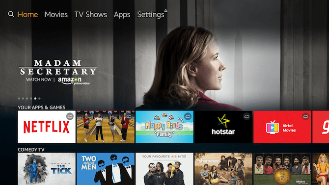 select search icon- AT&T TV On Firestick