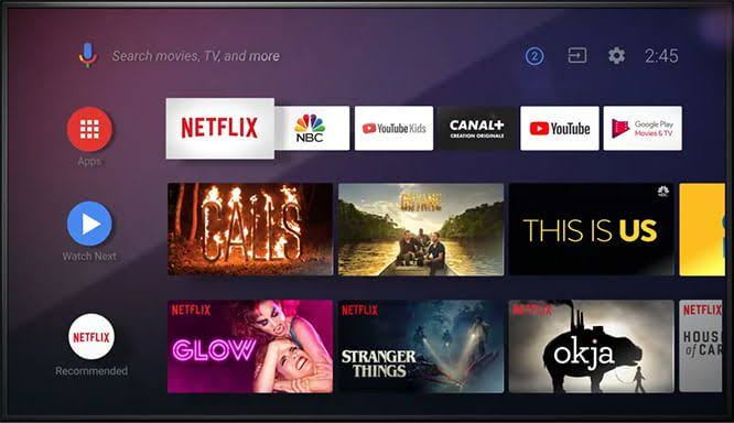 Discovery Plus on Sony Smart TV- click the search icon