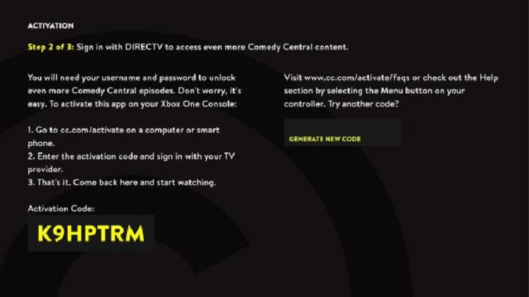 Activate Comedy Central on Firestick