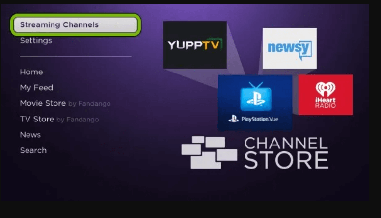 click on streaming channels to watch SYFY on Roku