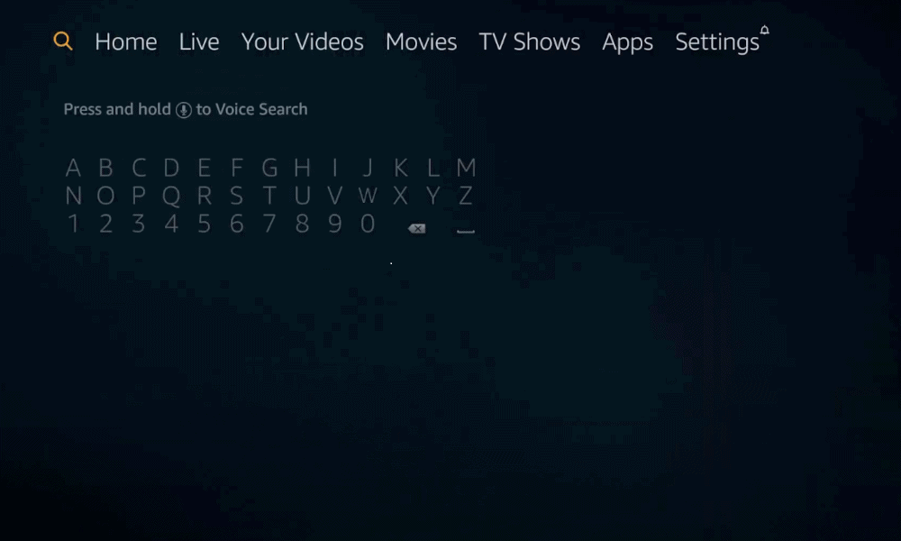search for Vidgo to stream Vidgo on Firestick