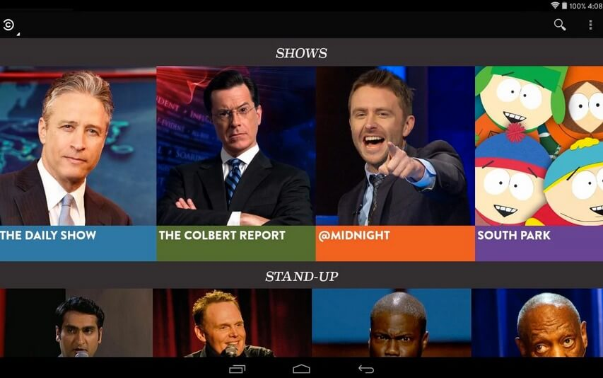 Comedy Central on Google TV