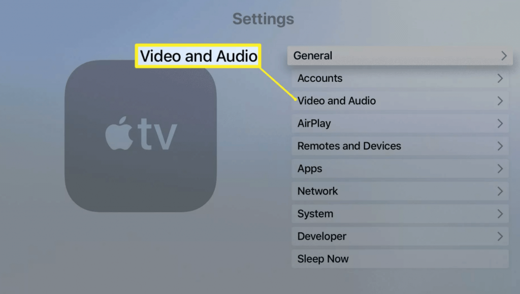 select video and audio to connect HomePods to Apple TV
