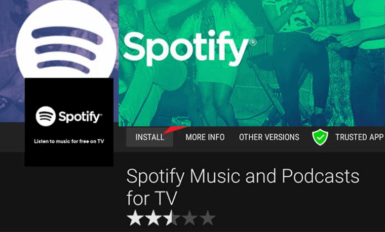 Spotify on JVC Android TV