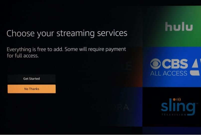 select your streaming device
