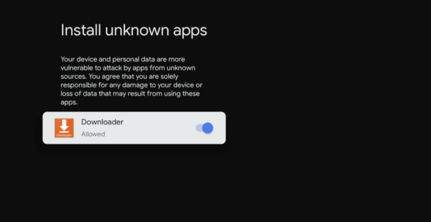flip the downloader to install unknown apps