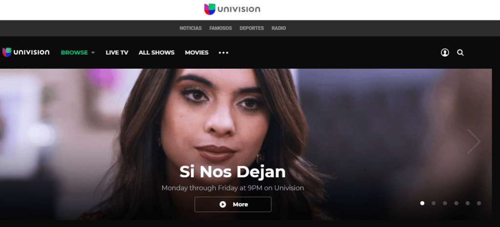 Univision Channel official site