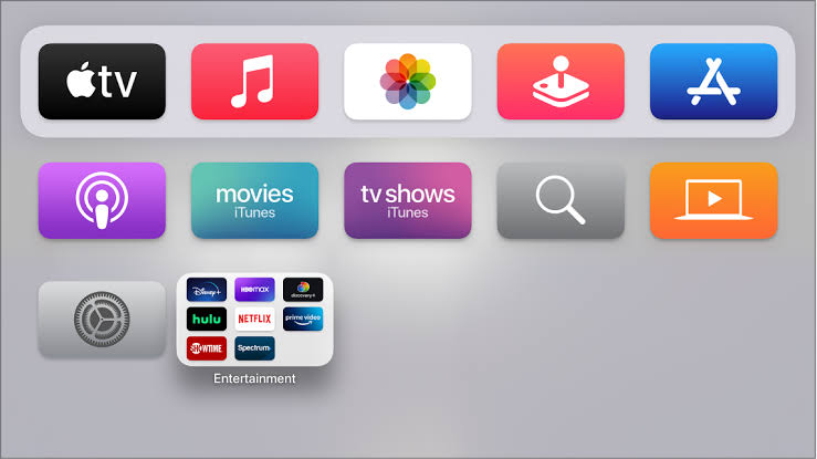 Select the App Store to stream MotorTrend TV on Apple TV.