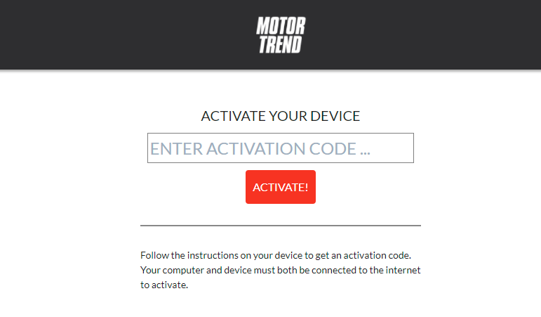 Enter the activation code.