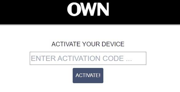 Activate OWN on Google TV
