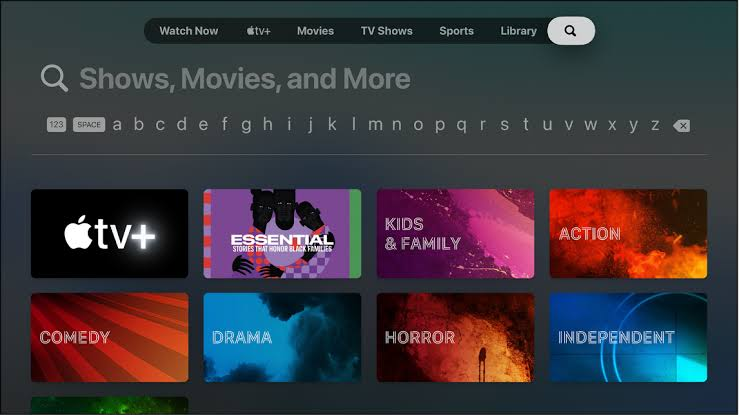 Search Activate Univision on Apple TV