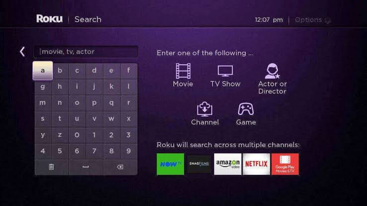 Search Univision on Roku