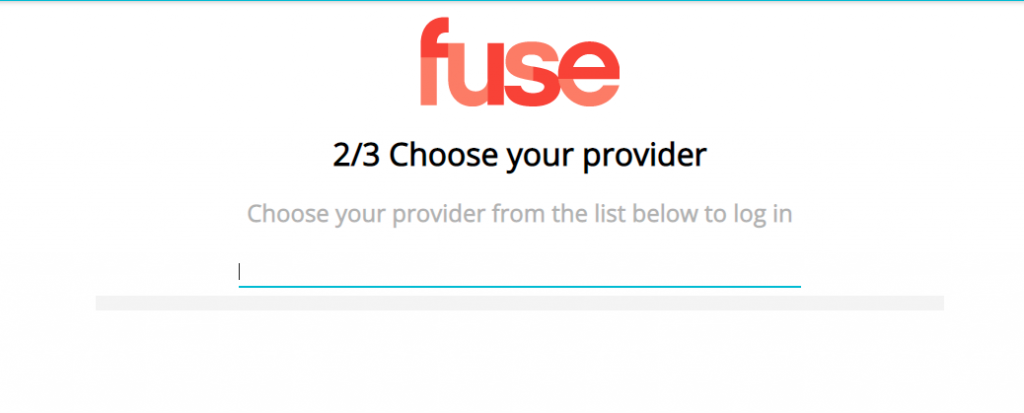 Choose your service provider to verify your account.